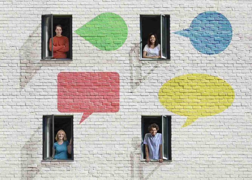 Representação de comunicação entre condôminos