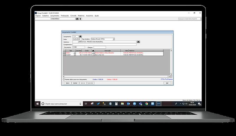 Dashboard do software Condomínio21