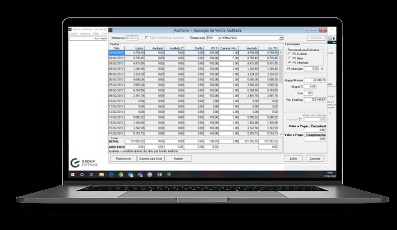 Software para auditoria de Shopping Center