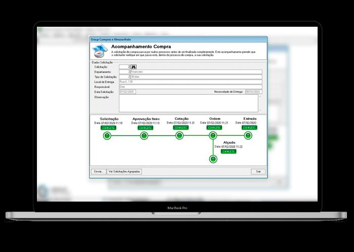 Software acompanhamento dos processos de compra