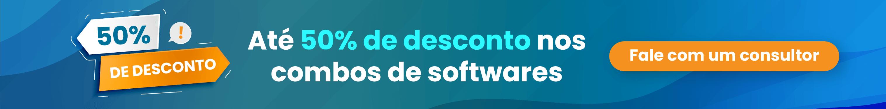 Descontos de até 50% nos combos de softwares